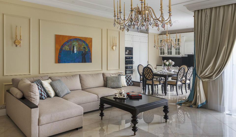 Дизайн квартиры в стиле современная классика (фото)