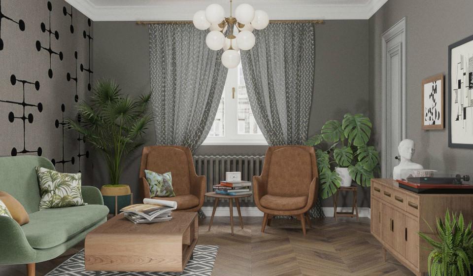 Интерьер квартиры для двух семей