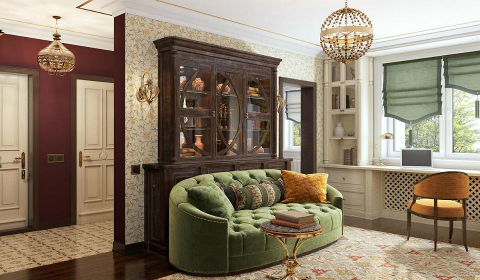 Смешение классических стилей в интерьере квартиры