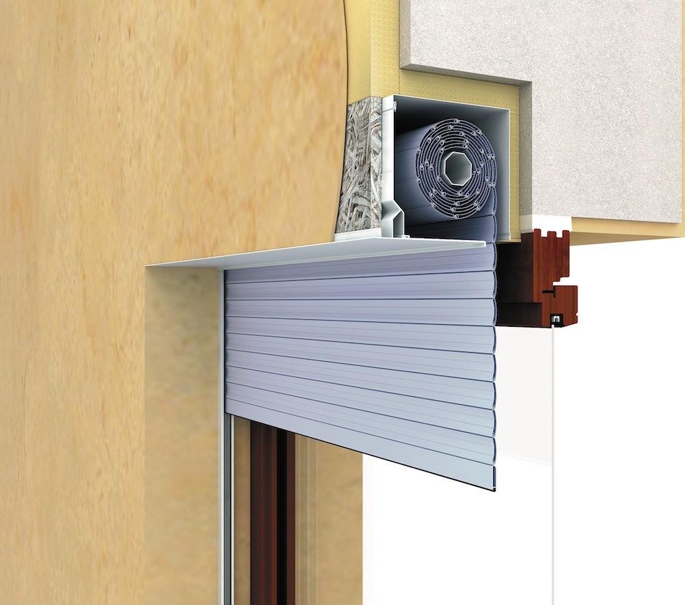 Самый эстетичный способ монтажа предполагает встраивание короба с валом в стену – поднятые рольствани в этом случае практически не видны (направляющие на боковых откосах заметит лишь очен...