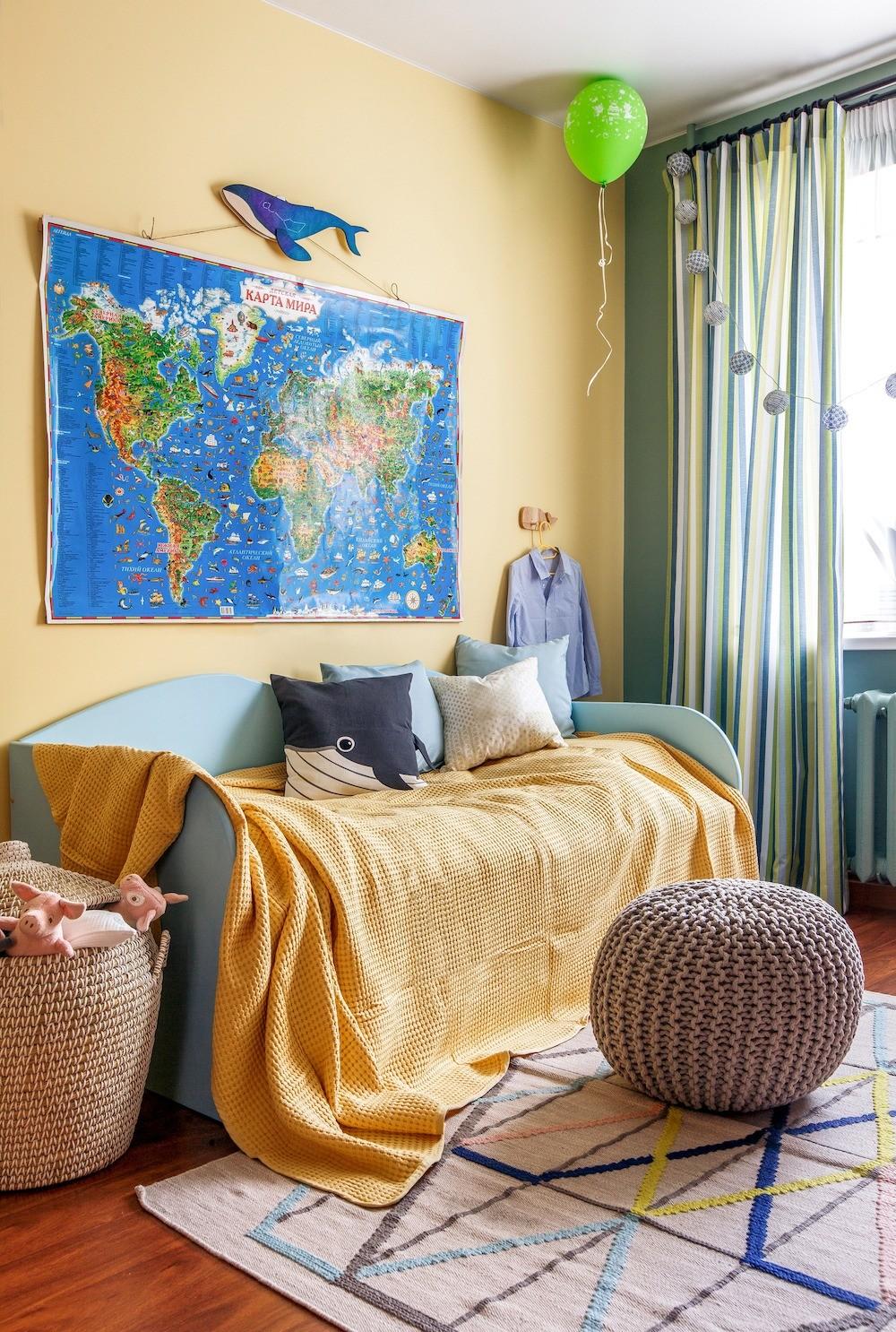 Стильно, ярко, бюджетно: квартира из 90-х, преобразившаяся до неузнаваемости