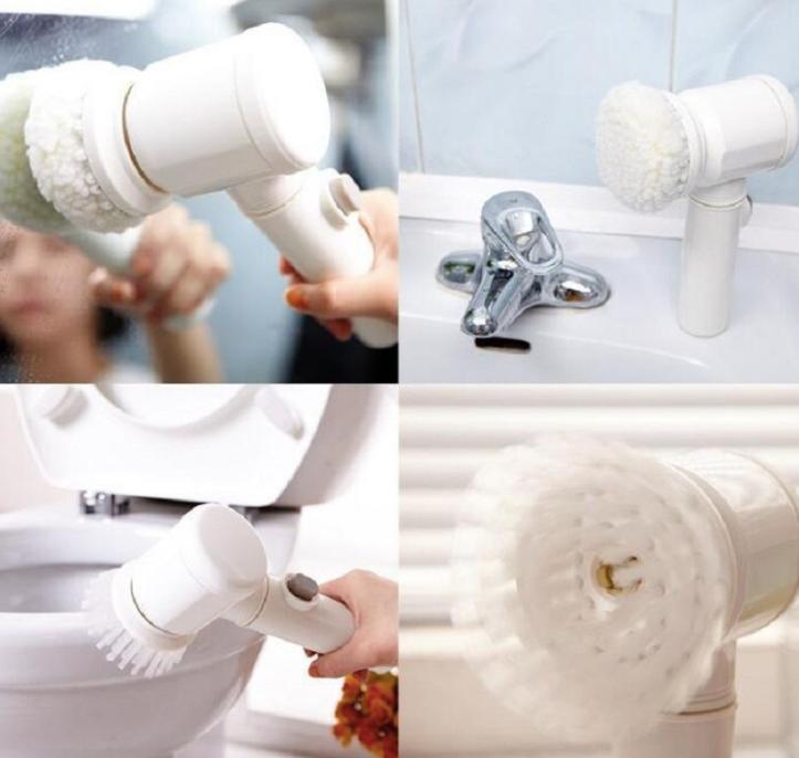 Электрическая щетка поможет очистить любые поверхности, включая смеситель и зеркало