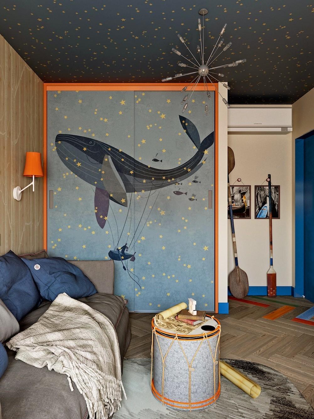 Идея для детской: потолок в виде звёздного неба