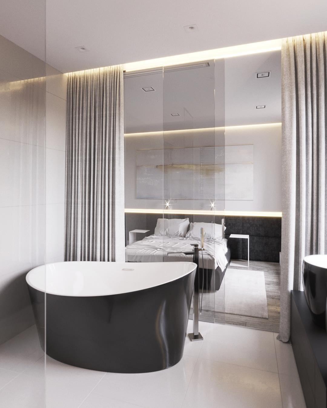 Мастер-ванная в ЖК Остров в Сочи. Фото: Instagram @marybendych
