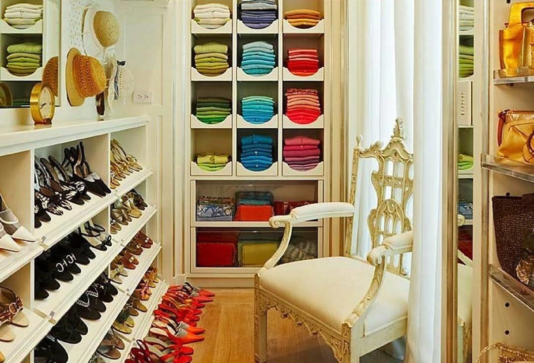 9 крошечных, но идеально организованных гардеробных