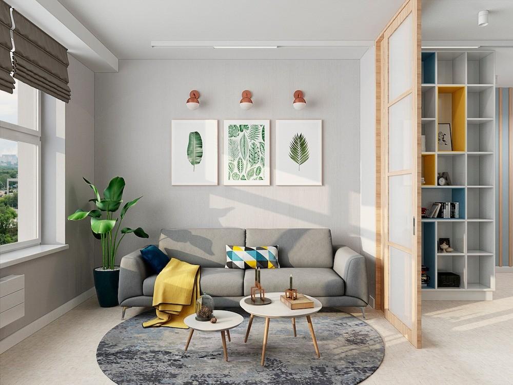Дизайн-проект: светлая и уютная трёшка в скандинавском стиле