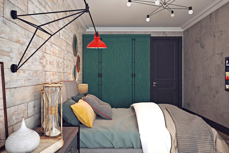 Оформляем стены в стиле лофт: штукатурка под бетон и состаренная доска