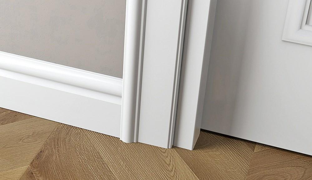 Зазор между полотном и коробкой надолжен превышать 3 мм, под дверью— 6 мм