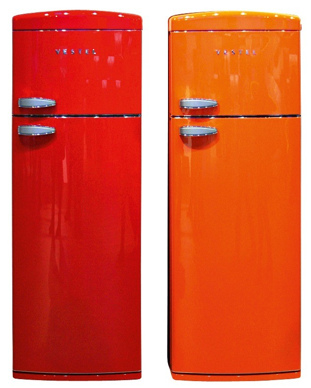 Холодильники Vestel классического дизайна, носяркой расцветкой