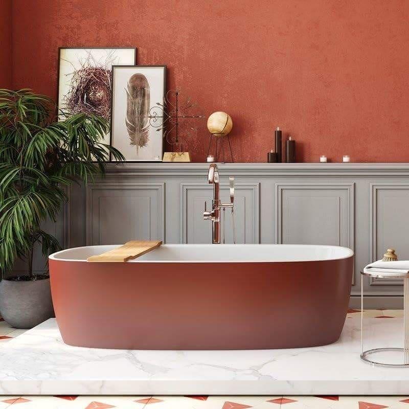 67 ванных комнат с вдохновляющей яркой сантехникой