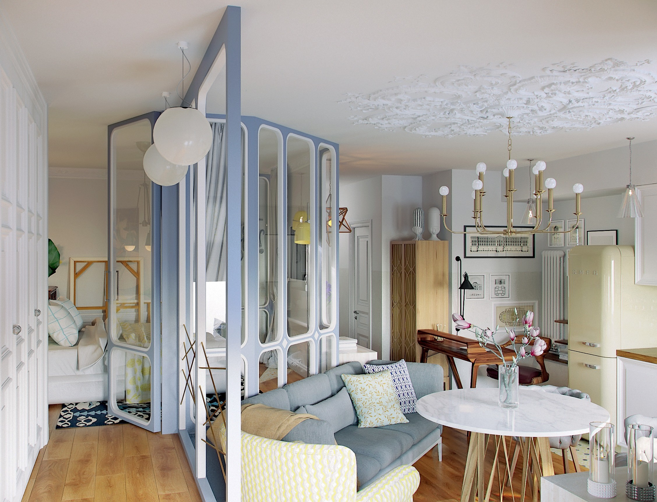 Дизайн-проект: светлая и уютная двушка для семьи