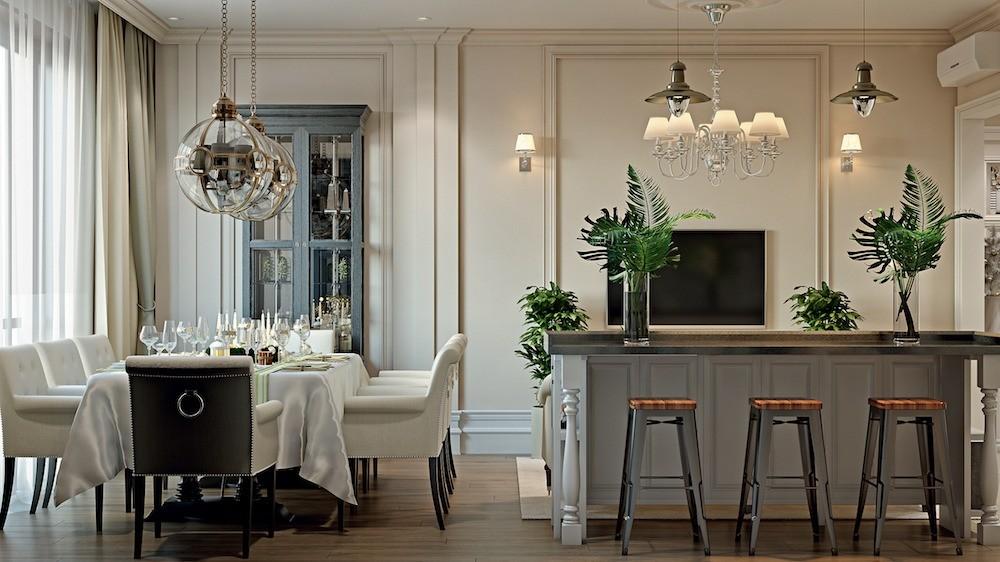 Зона кухни-гостиной