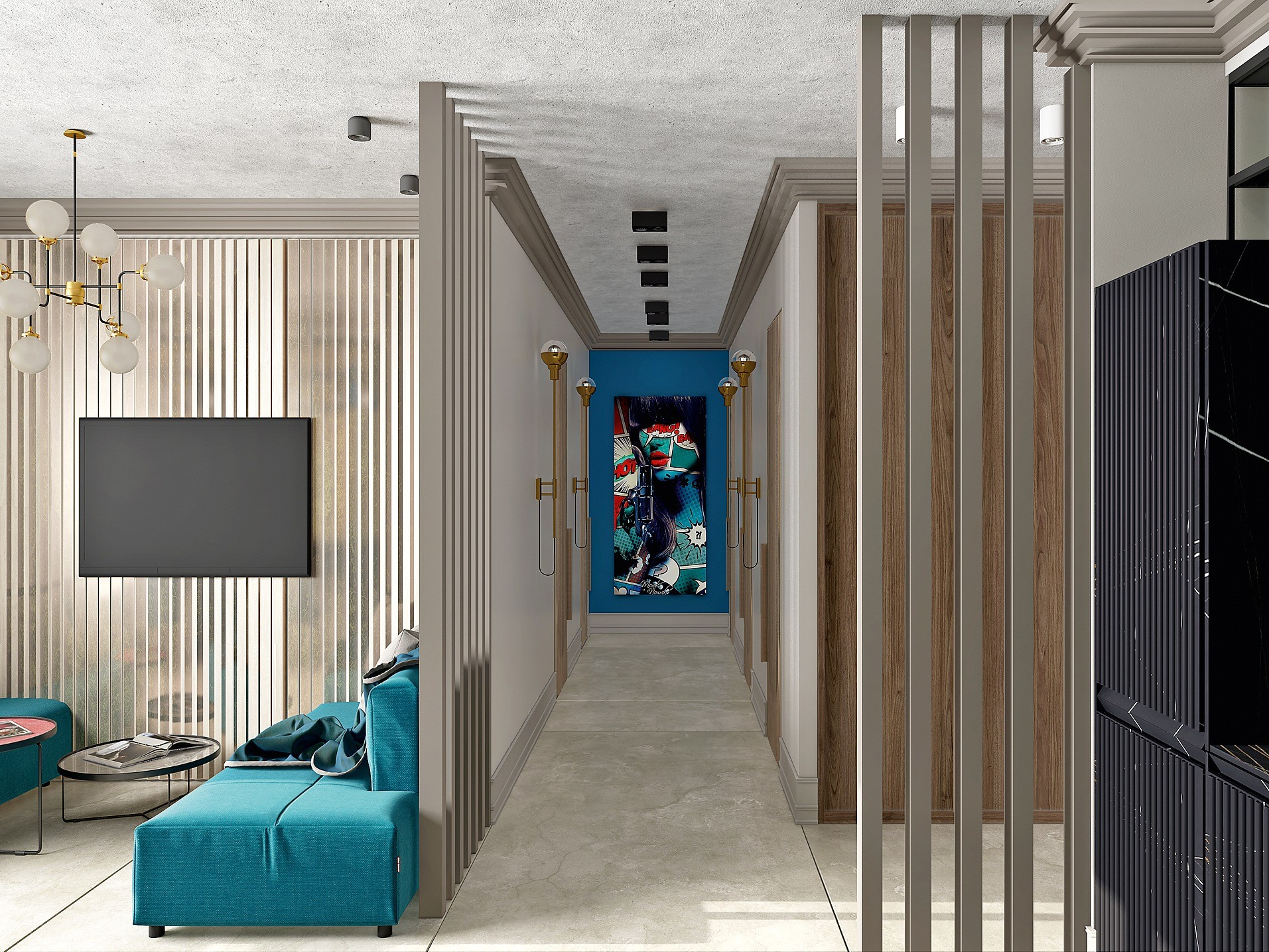 Комфортная трёшка с двумя детскими и спальней