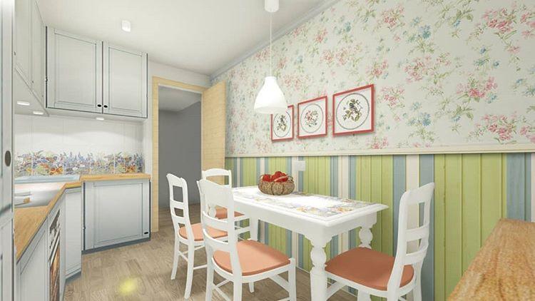 Обои для маленькой кухни, зрительно увеличивающие пространство: 50+ лучших идей