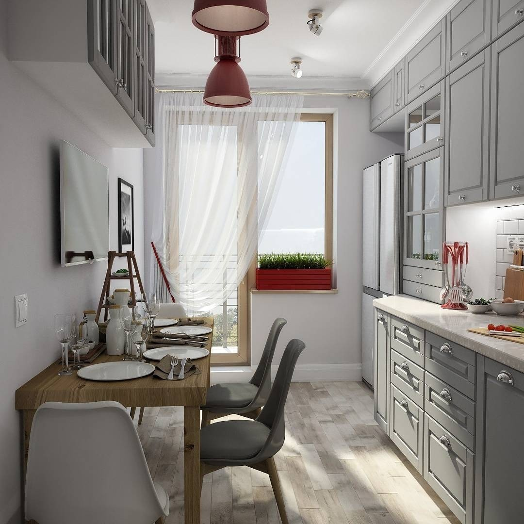 17 стильных кухонь-«вагончиков»