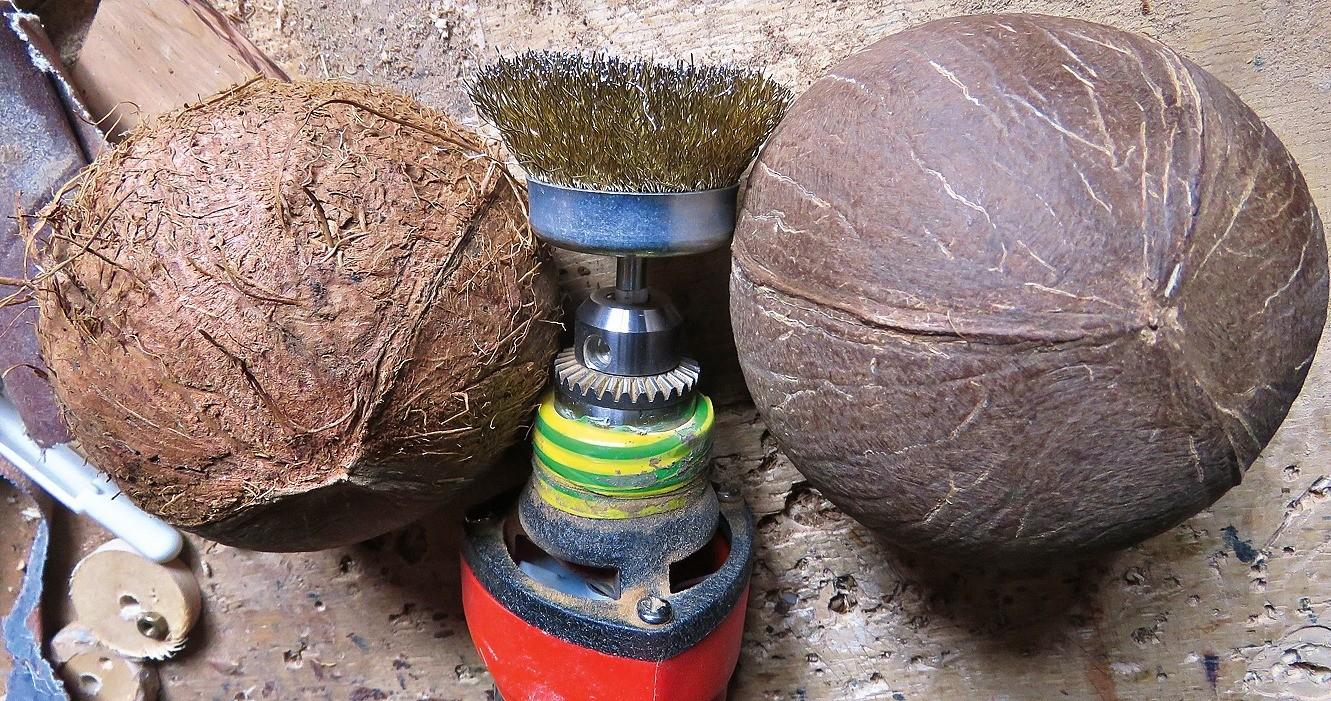 Как сделать лампу для чтения из... кокоса