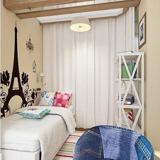 Комната для девочки подростка в стиле Париж