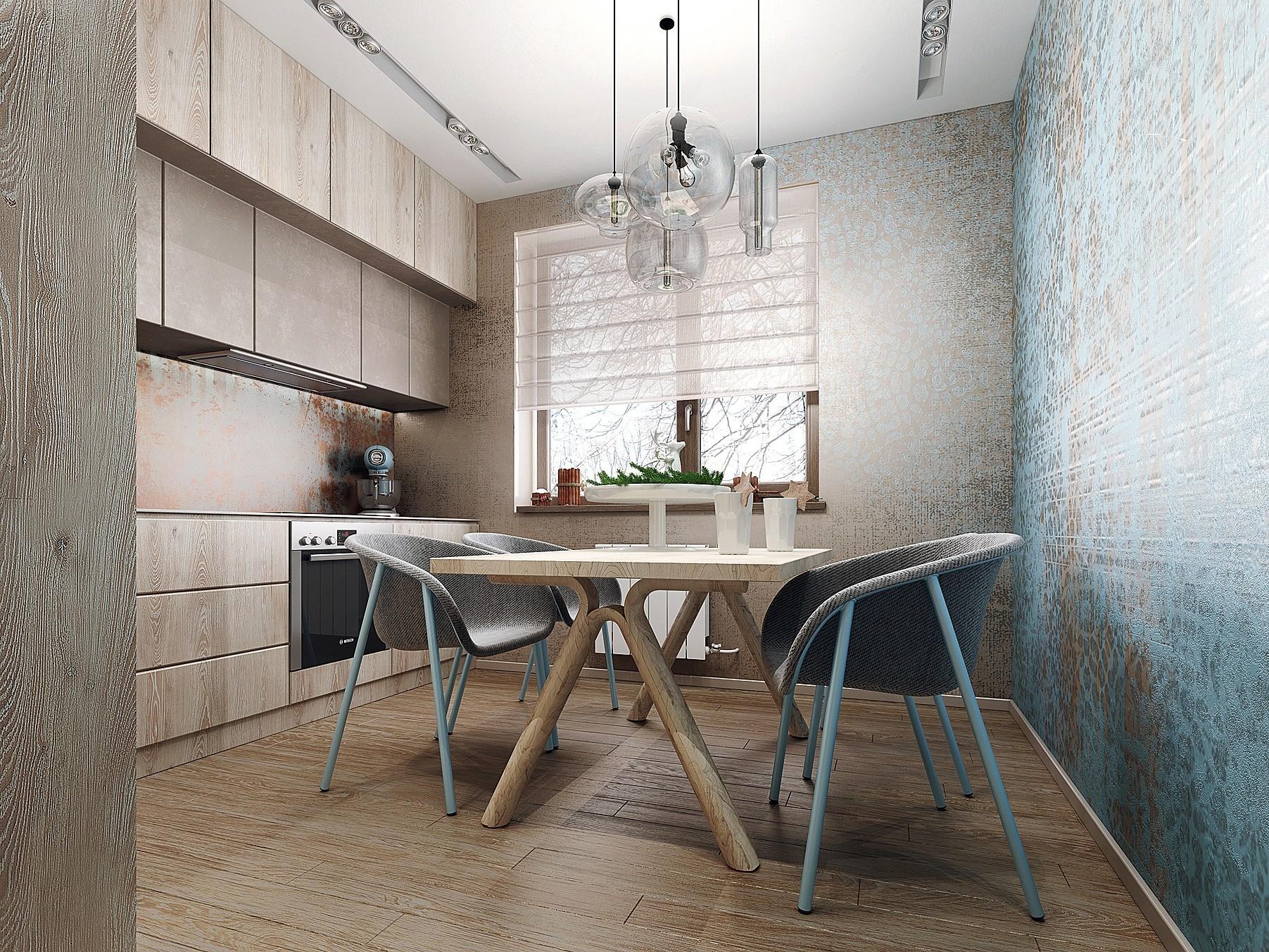 В помещении с такими пропорциями стулья должны иметь низкие спинки