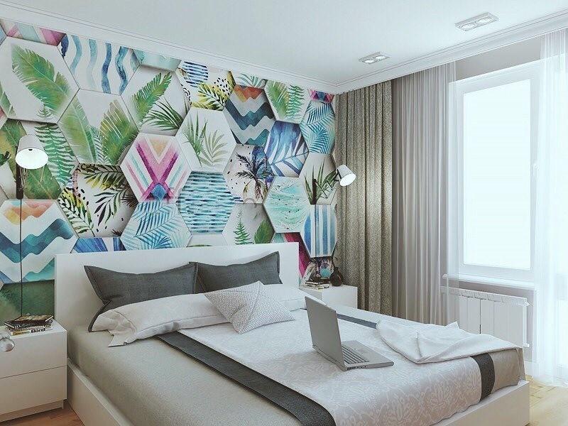 Декор стен в спальне: 10 необычных идей и 50 ярких примеров