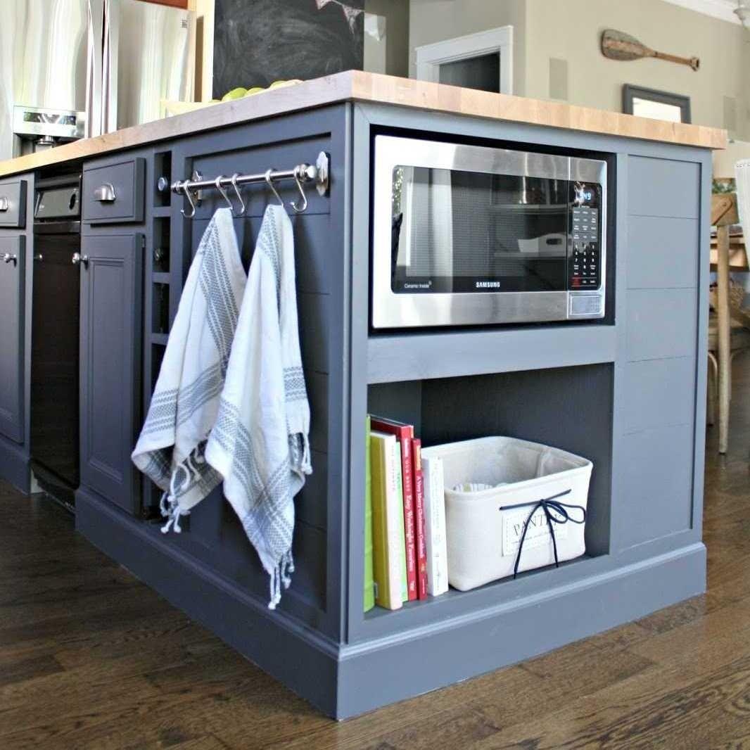 Кухонный остров можно использовать для дополнительного хранения