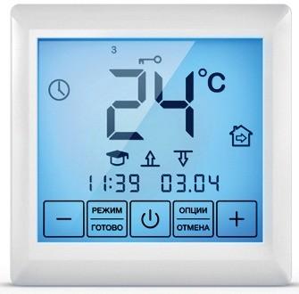Терморегулятор с сенсорным дисплеем SE 200 (ССТ). Большой экран облегчает управление обогревом
