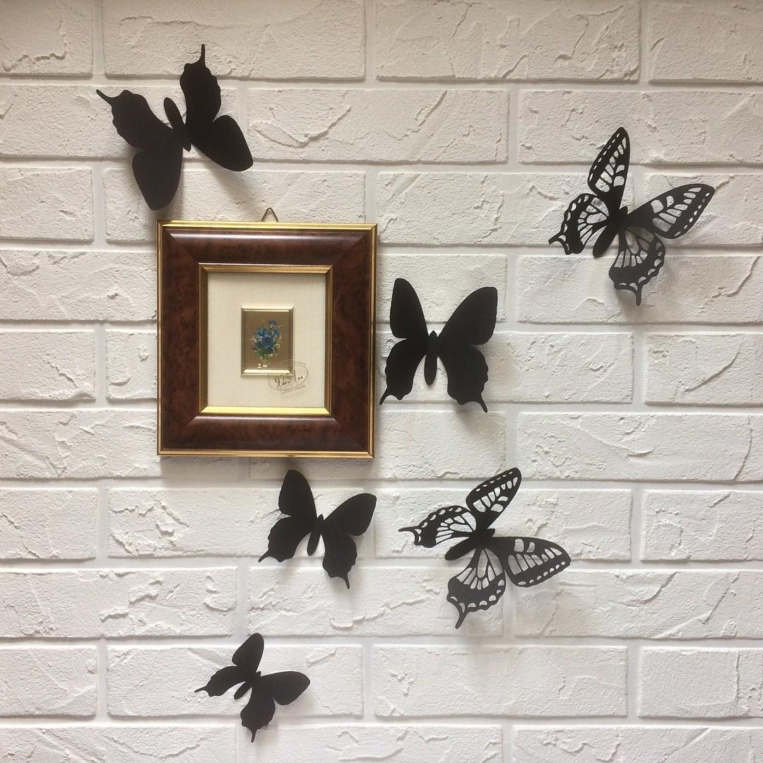 Как сделать бабочки из бумаги на стену своими руками: инструкция и трафареты