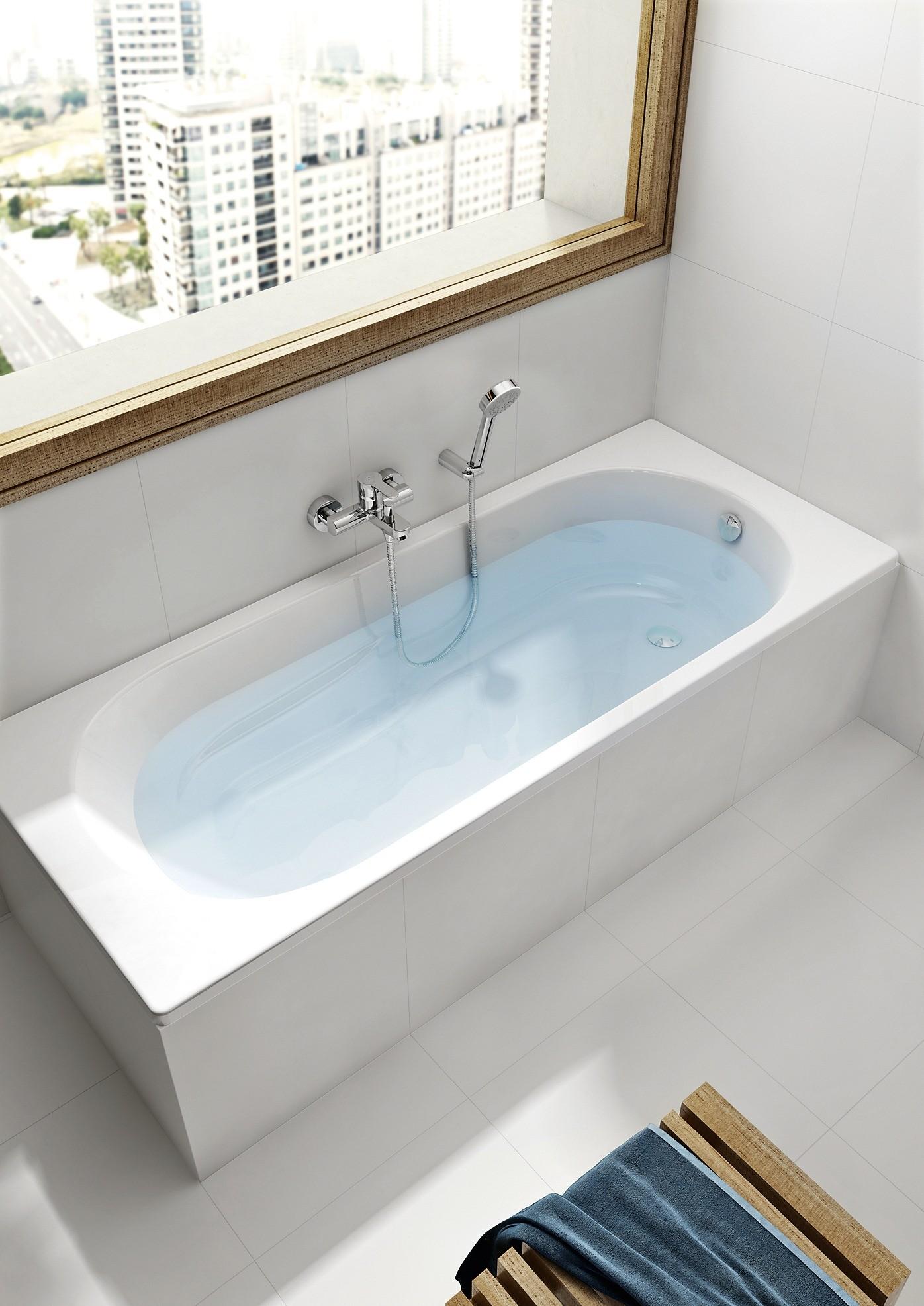 Одноместные ванны из 100%-го литьевого сантехнического акрила: Roca Genova-N (150 × 75 × 45 см) (11 200 руб.)