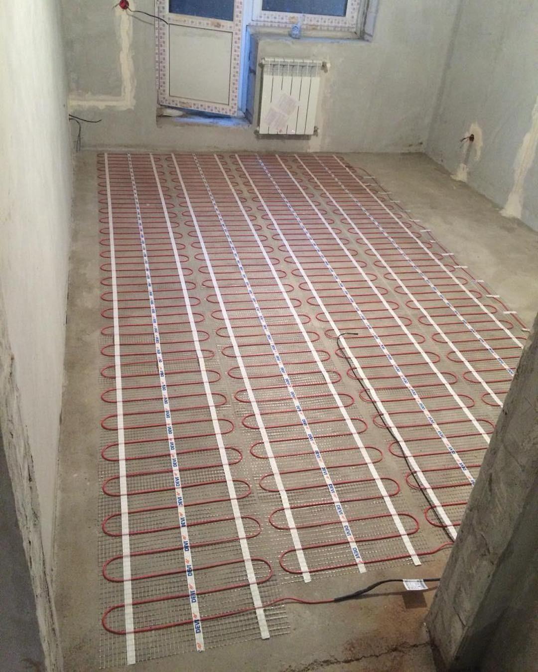 Нагревательный кабель - до укладки финишного покрытия