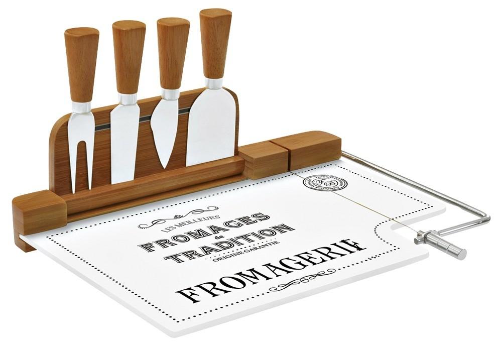 Набор для нарезки сыра Easy Life, материал — бамбук, стекло, сталь («Евродом») (4500 руб.)