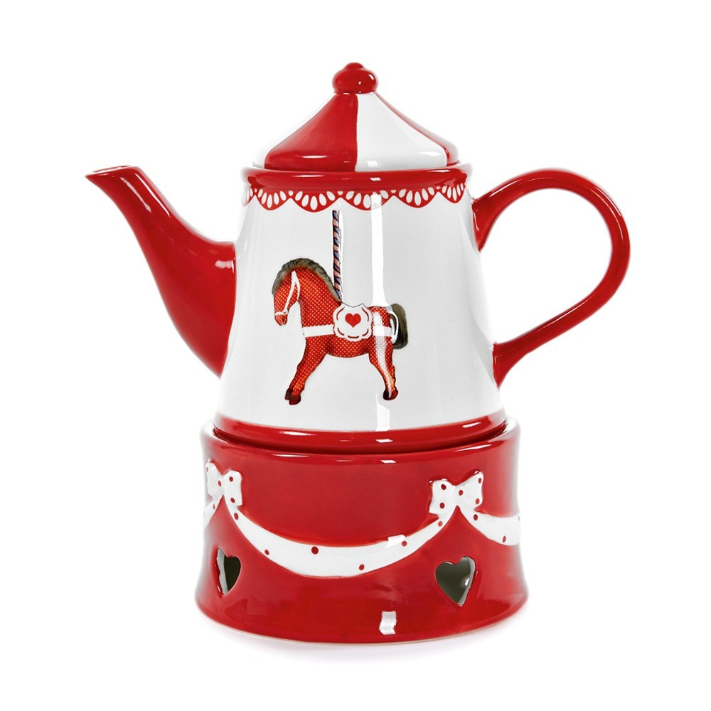 Заварочный чайник Neverland с рисунком в виде лошади. Материал — керамика (2490 руб.)