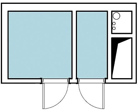 Познакомьтесь с двумя дизайн-проектами ванной в трёшке общей площадью 95,8 м2, расположенной в угловой секции типового дома. Несмотря на большой метраж квартиры, ванная комната и туалет о...