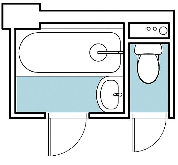 Рассмотрим два варианта перепланировки влажных зон в однокомнатной квартире общей площадью 33,3 м2. Все стены в квартире ненесущие, в том числе образующие ванную и туалет перегородки. Авт...