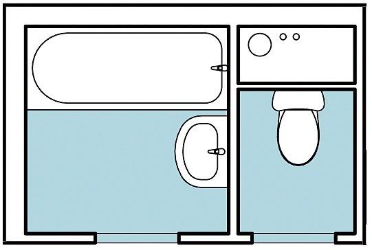 Перед вами — перепланировка влажных зон в трёхкомнатной квартире общей площадью 74,2 м2. Ванная комната и туалет здесь небольшие и раздельные. При необходимости помещения допустимо объеди...
