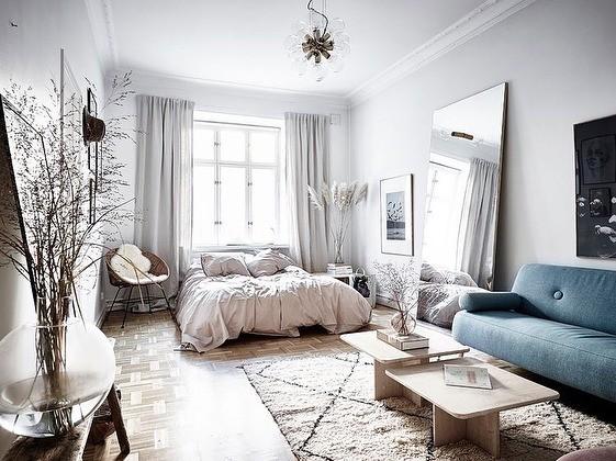 Спальня в скандинавском стиле: современные идеи дизайна интерьера на фото