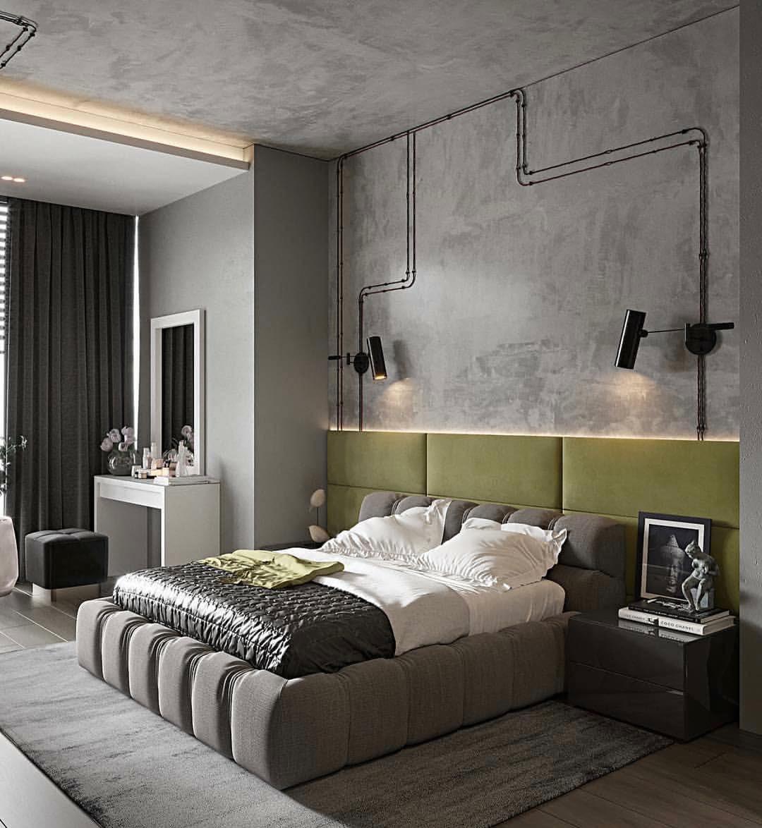 Спальня в стиле лофт в квартире: современные идеи дизайна интерьера на фото