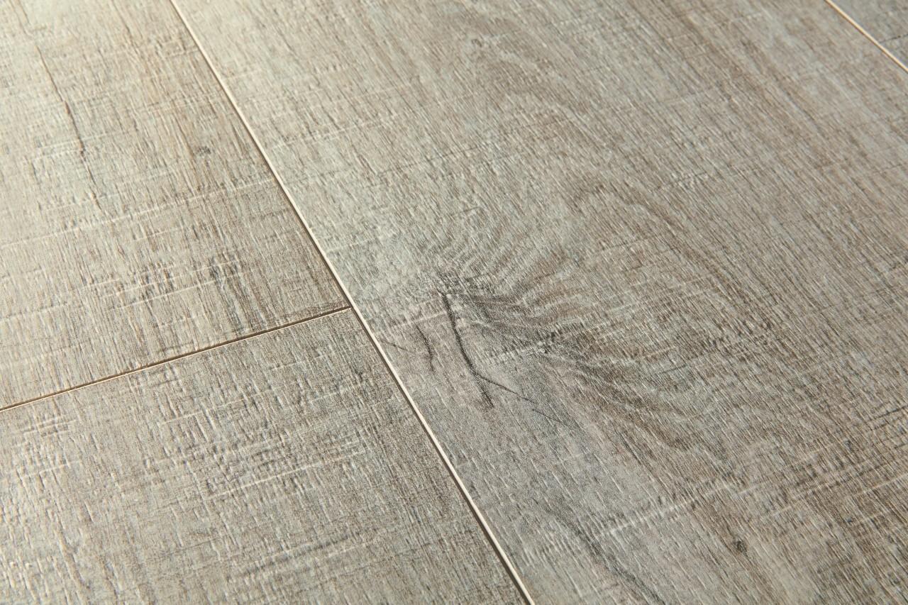 (PUCL40106) Quick-Step. ПВХ-плитка коллекции Pulse Click, дуб хлопковый темно-серый пилёный, метод монтажа: замок, размер планки: 1510 × 210 мм, толщина: 4,5 мм, гарантия: 20 лет