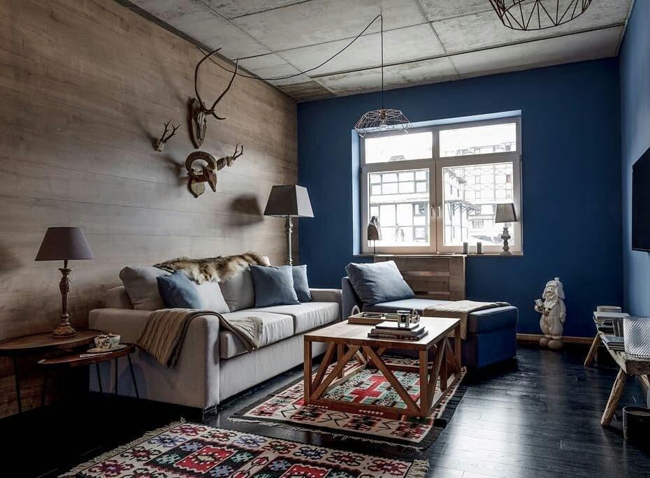 Оформление стены в зале: современные идеи дизайна на фото