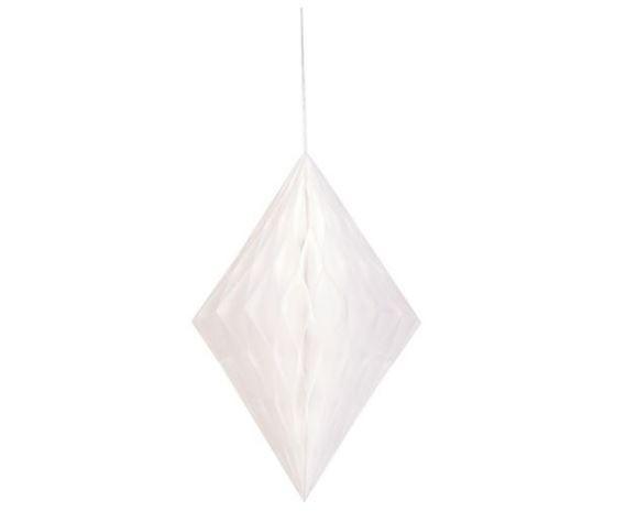 Украшение на подвесе Diamond, белое