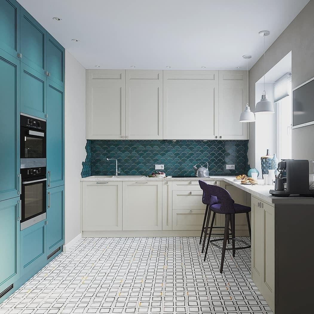 Фартук для кухни из плитки: идеи современного дизайна на фото