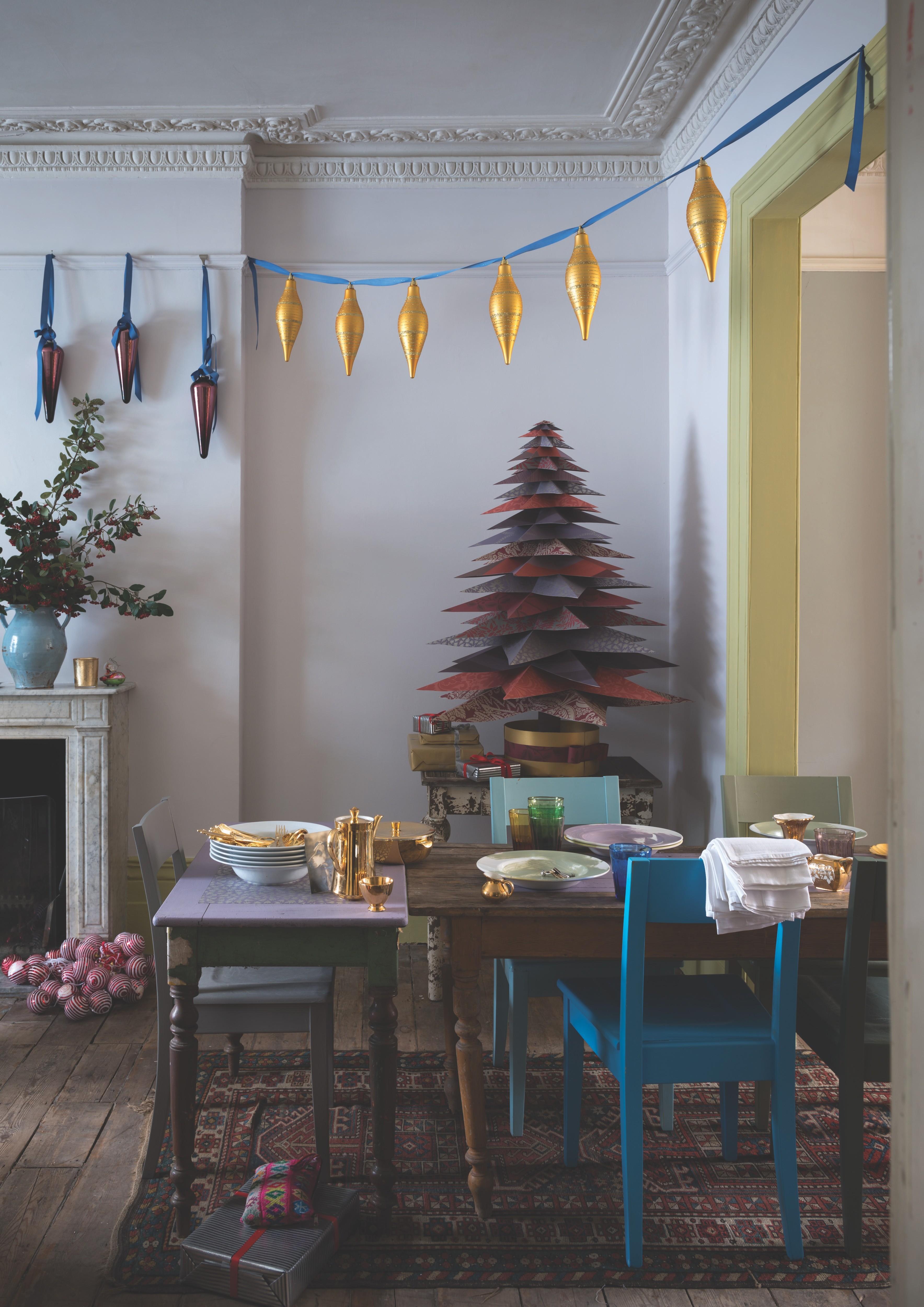 Самодельное новогоднее дерев...