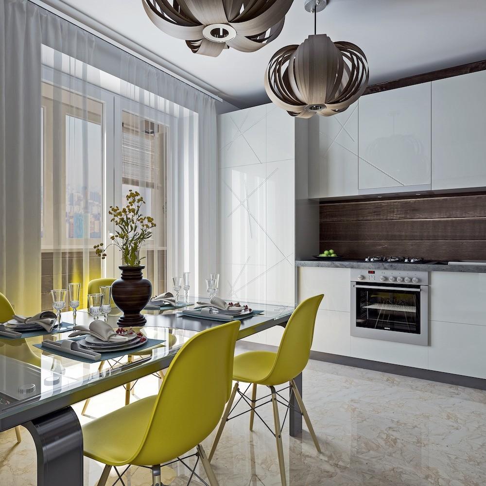 Потолок кухни украсят светиль&#...