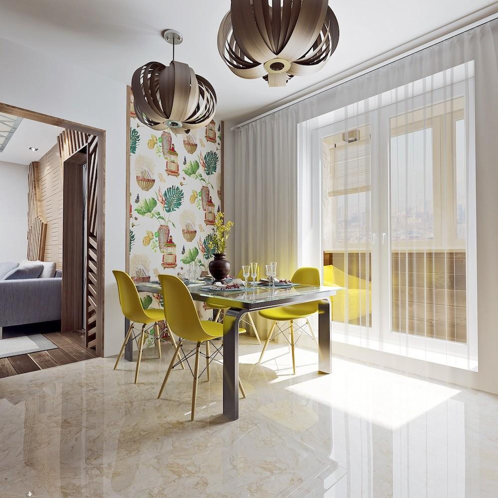 А чтобы не лишать гостиную естественного освещения и инсоляции, из комнаты предусмотрят проход в кухню, устроив его в несущей стене, которую усилят металлоконструкциями. Изменения в плани...