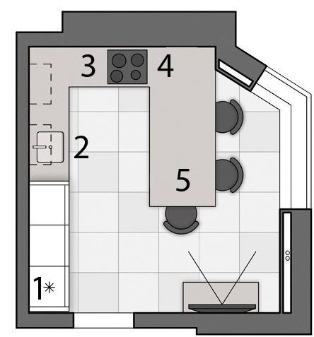 Кухня в экостиле с отделкой из бетона и дерева