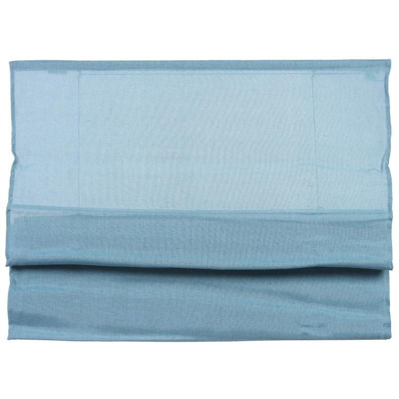 Римская штора синяя, 80X160