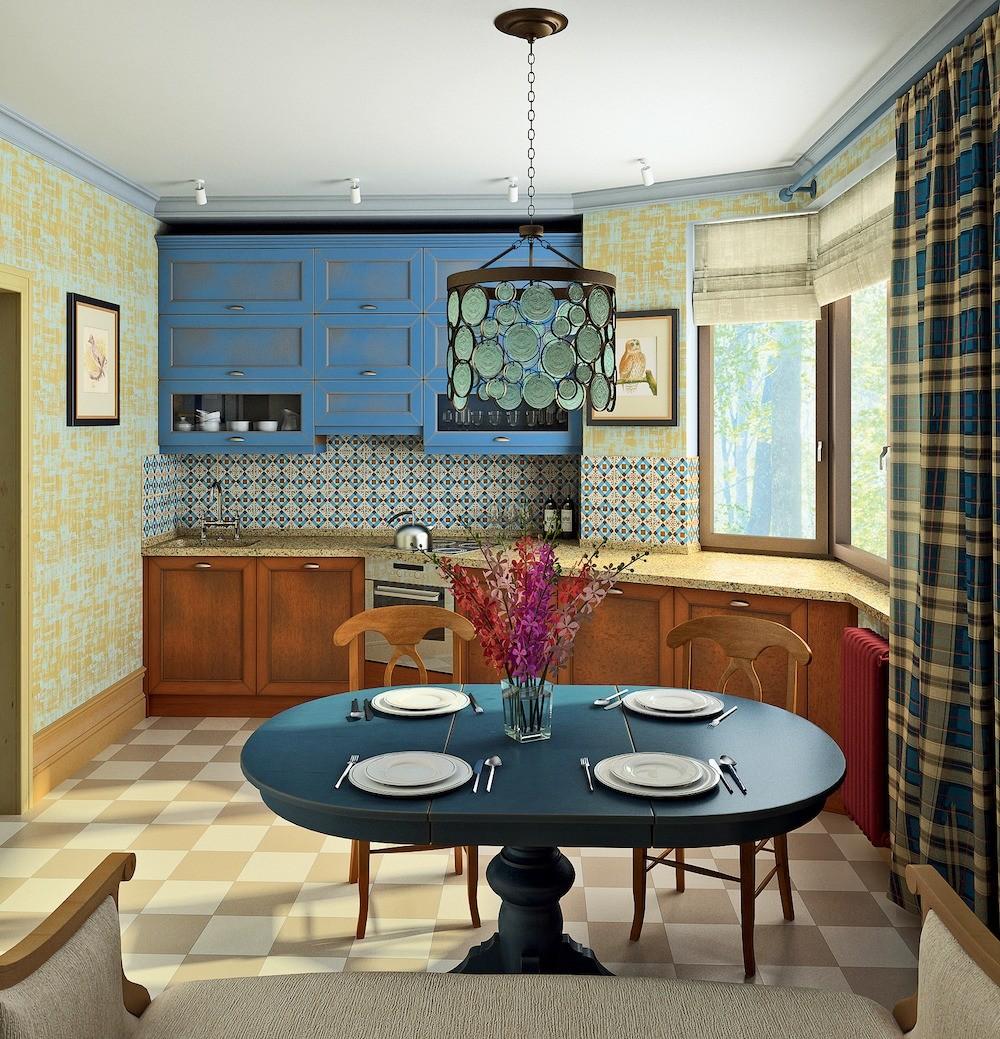 Небольшая трёшка для семьи, в которой кухня стала и столовой, и гостиной