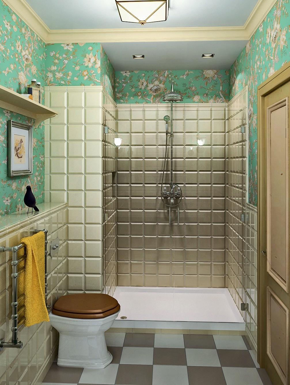 Санузлы объединяются, и появляется место для широкой тумбы со встроенной раковиной. Вместо ванны предлагается установить душевую с большим поддоном и стеклянными дверями. Кладовая ликвиди...