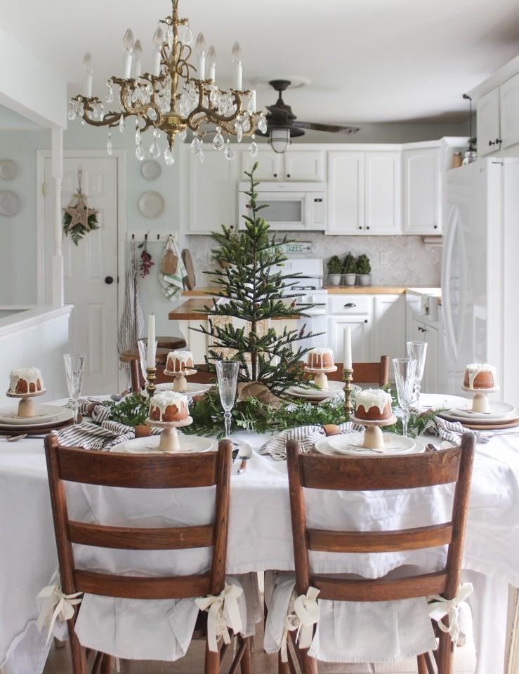 Если вы уже нарядили елку в гостиной, в столовой или на кухне вы вполне можете поставить такое небольшое дерево. В данном варианте даже не потребовалось никакого праздничного декора — его...
