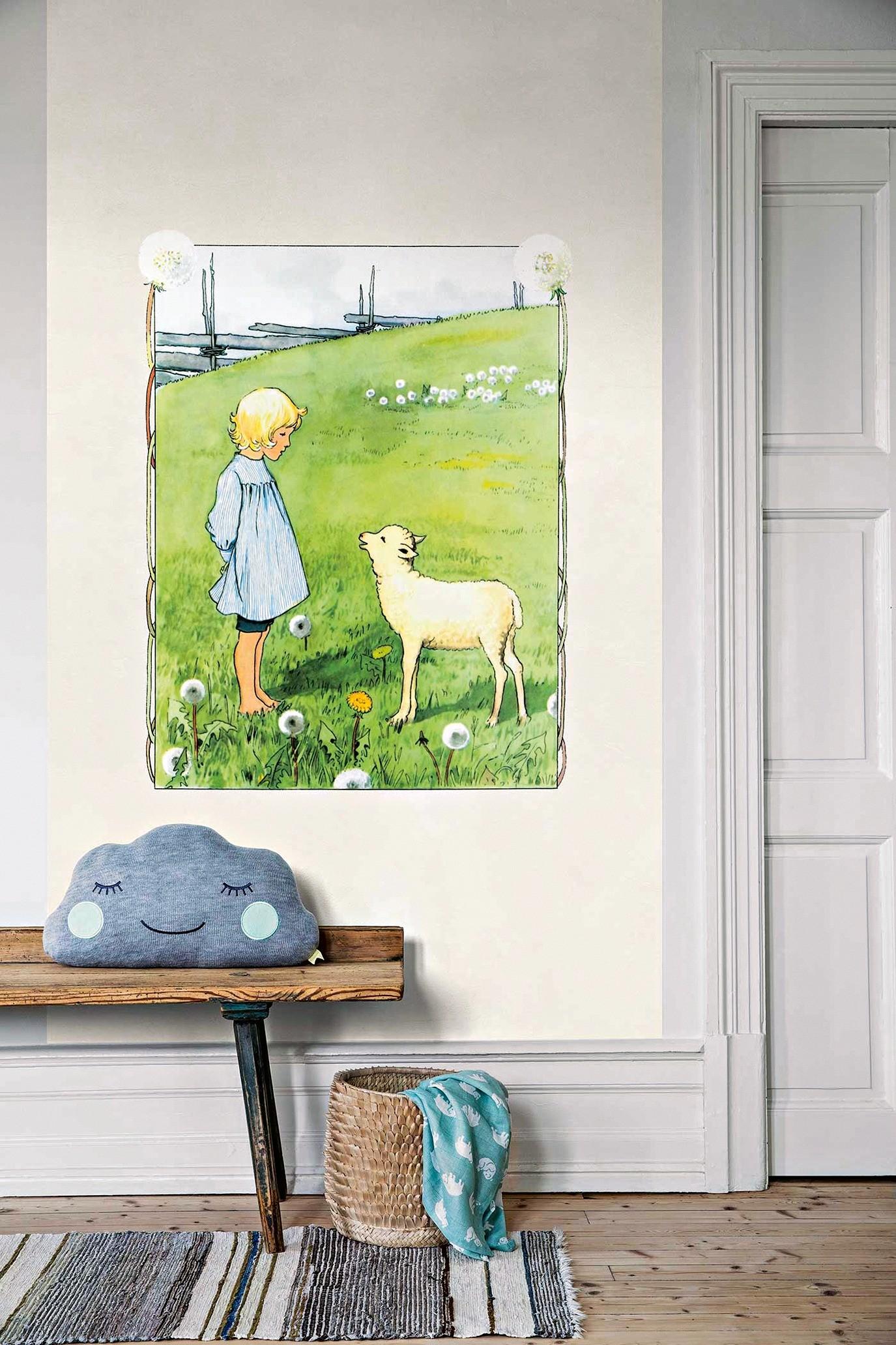 Фотопанно для детей Bä bä vita lamm (BoräsTapeter), размер 1,35 × 2,65 м (11 400 руб.)