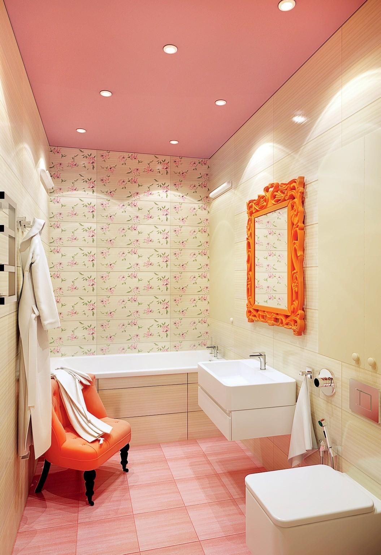 Чтобы соблюсти единообразие оформления и конструктивного решения межкомнатных дверей в зоне гостиной, вход в ванную также оборудуют сдвижной конструкцией, пожертвовав тем самым звукоизол...