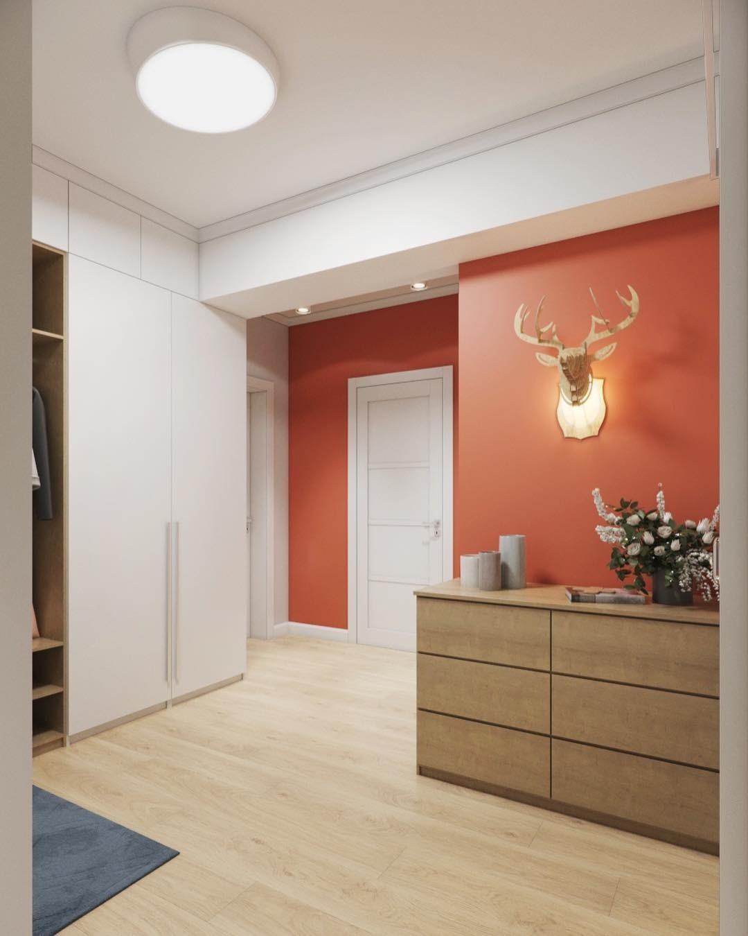 В этом проекте в качестве необычного варианта декора выбран светильник в виде головы оленя